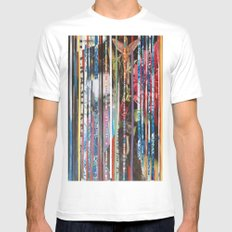 COLLAGE11 Mens Fitted Tee White SMALL