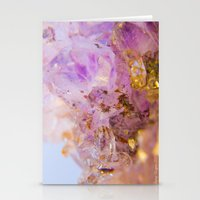 Amethyst Incrustrations Stationery Cards