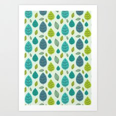 Trees pattern Art Print