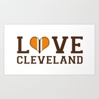 LUV Cleveland Art Print