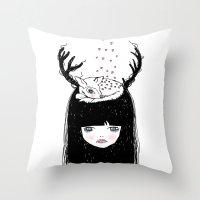 Bambi & moi Throw Pillow