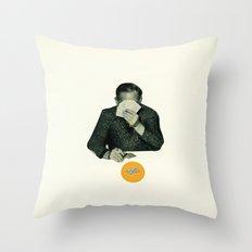 Poker Face Throw Pillow