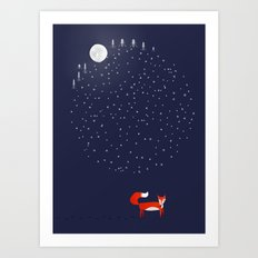 Fox Dream Art Print