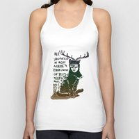 Hipster Cat giving Smart Advice Unisex Tank Top