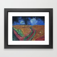 Crows Over A Wheat Field and Calvin Framed Art Print