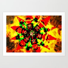 Tribal colors Art Print