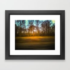 Sasquatch Sighting from a Train Framed Art Print