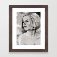 Swinging Sixties Miss Framed Art Print