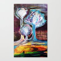 Night Is A World Lit By Itself Canvas Print