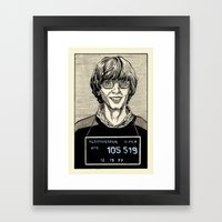 Bill Gates Mugshot Framed Art Print