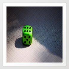 green dice Art Print