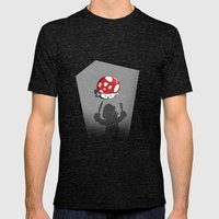 Oh no! It's Mario! Mens Fitted Tee Tri-Black SMALL