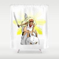 Andrea Bonifacio: San (Princess Mononoke) x Bonifacio x Gabriela Silang Shower Curtain