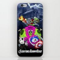 Floating BunnyHead + Avengers iPhone & iPod Skin