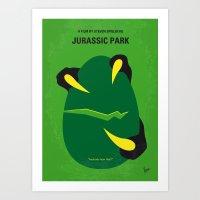 No047 My Jurassic Park minimal movie poster Art Print
