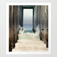 Boardwalk 2 Vertical Art Print