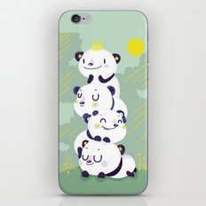 Panda pile iPhone & iPod Skin