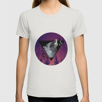 Witchy Wolf Womens Fitted Tee Silver SMALL