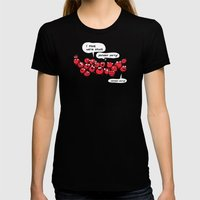 The Blood Clot Womens Fitted Tee Black SMALL