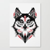 American Indian wolf Canvas Print