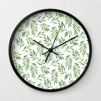 Willow -Green Wall Clock
