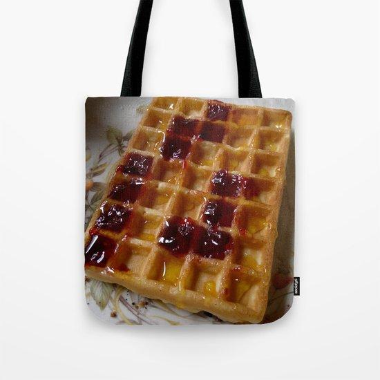 Waffles & Tetrimino Jam Tote Bag