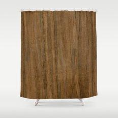 Etomie (Flat Cut) Wood Shower Curtain