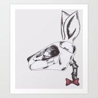 francine the rabbit queen. Art Print
