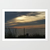 Sunset in Montauk Art Print