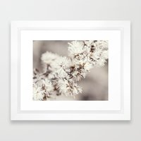 Frosted Weed Framed Art Print