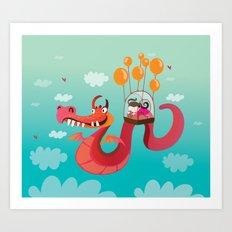 Dragona Art Print