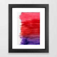 Watercolor Wash Abstract Framed Art Print
