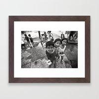 Vietnamese Children With… Framed Art Print