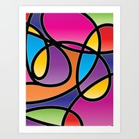 Loops Color 2 Art Print