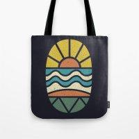 Lets Go Surfing Tote Bag