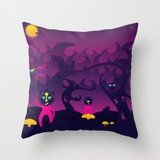 Night of the forest spirit Throw Pillow