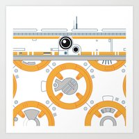 Minimal BB8 Droid Art Print