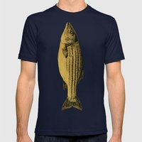 A Fish Mens Fitted Tee Navy SMALL