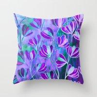 EFFLORESCENCE Lavender P… Throw Pillow