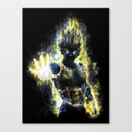 DBZ Inspired Epic Vegeta… Canvas Print