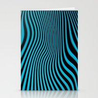 Stripes In Blue Stationery Cards