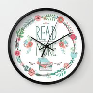 Read More Floral Wreath Wall Clock