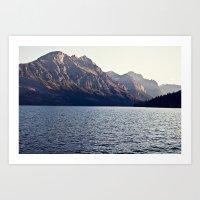 Blue Mountain Lake Art Print