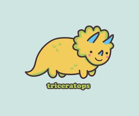 Triceratops Art Print