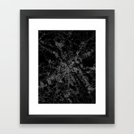 Warsaw Map Poland Framed Art Print