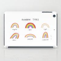rainbow types iPad Case