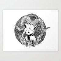 Not a unicorn Art Print