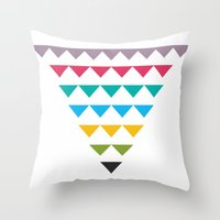Colorful Dissention Throw Pillow