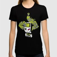 Pixel Dreams Womens Fitted Tee Black SMALL