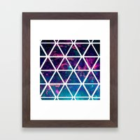 GALAXY TRIANGLES Framed Art Print